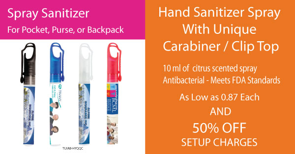 Spray hand sanitizer with discount